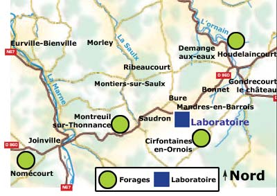 carte forages
