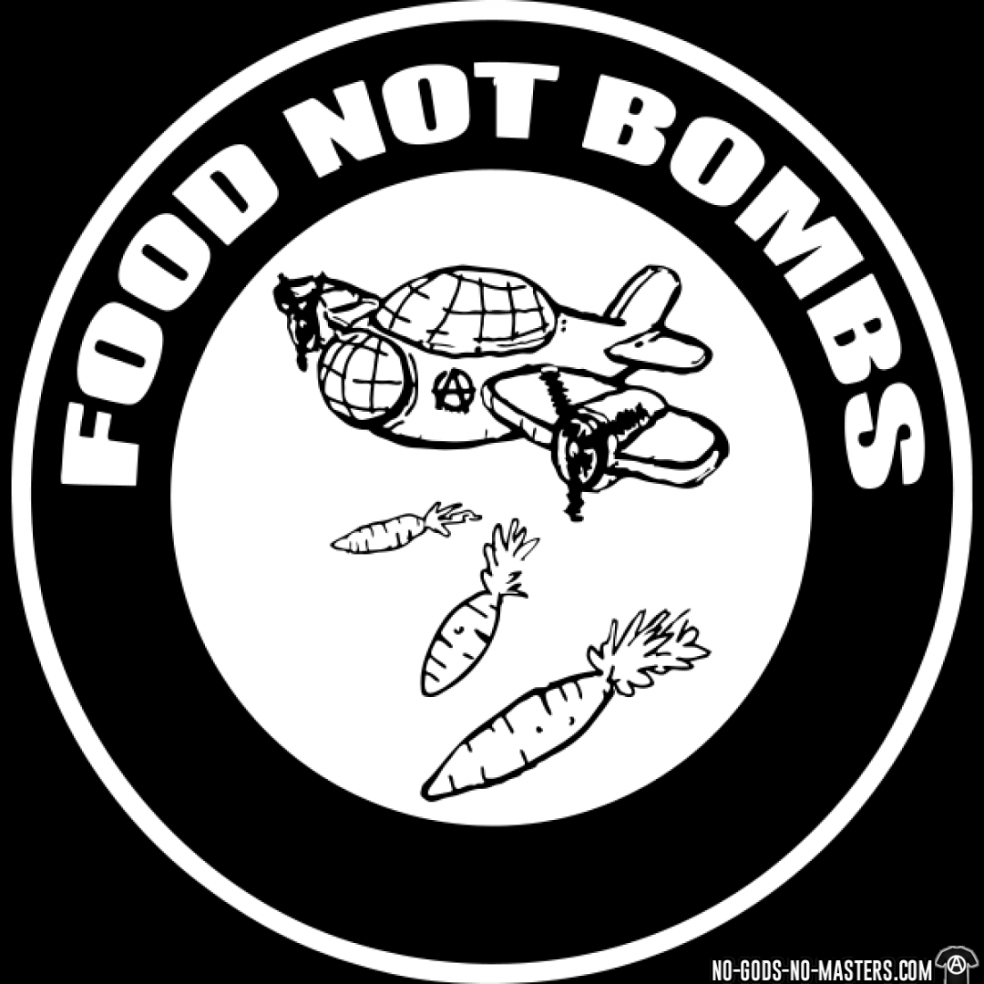 tshirt food not bombs d0012755978